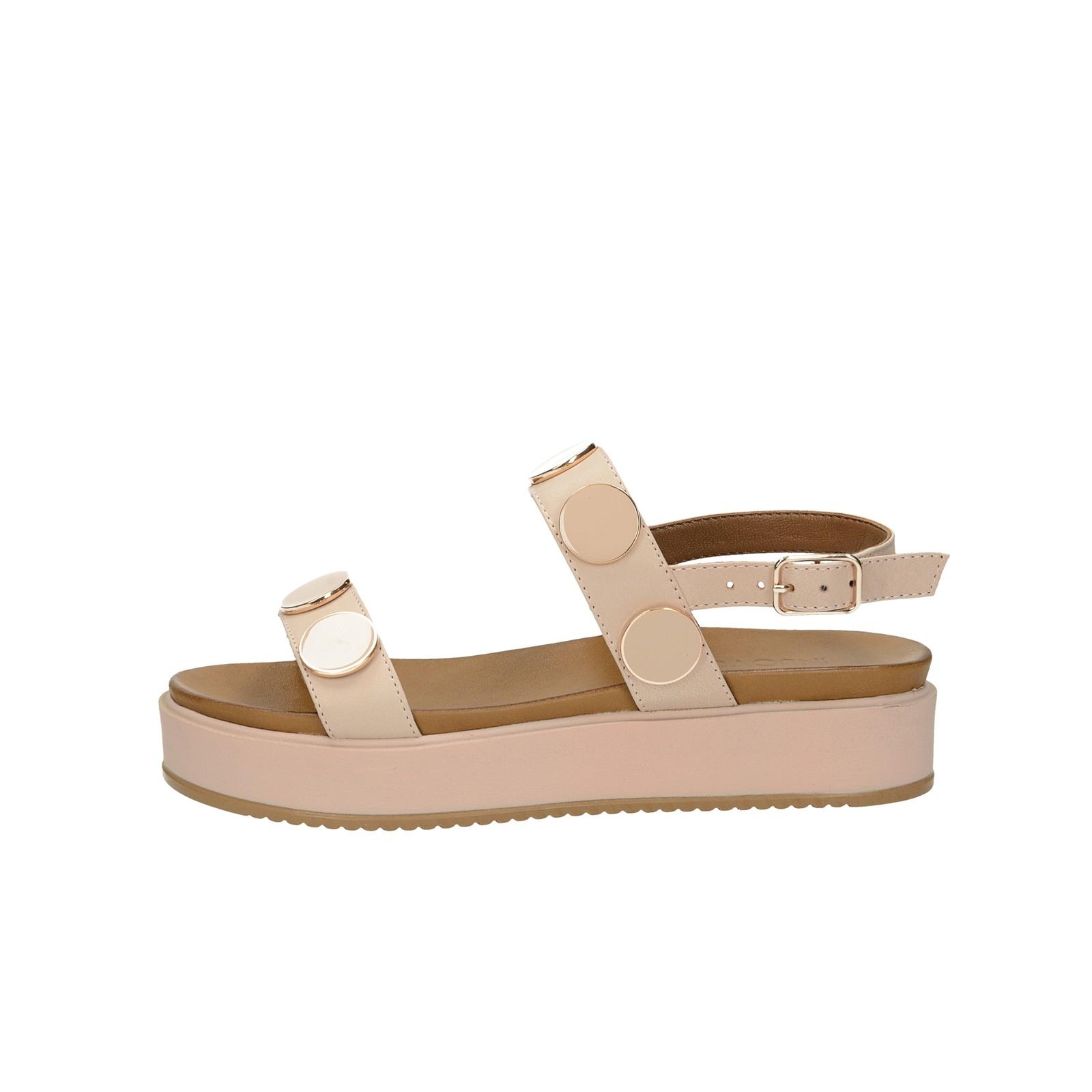 Inuovo dámské kožené stylové sandály - lososové
