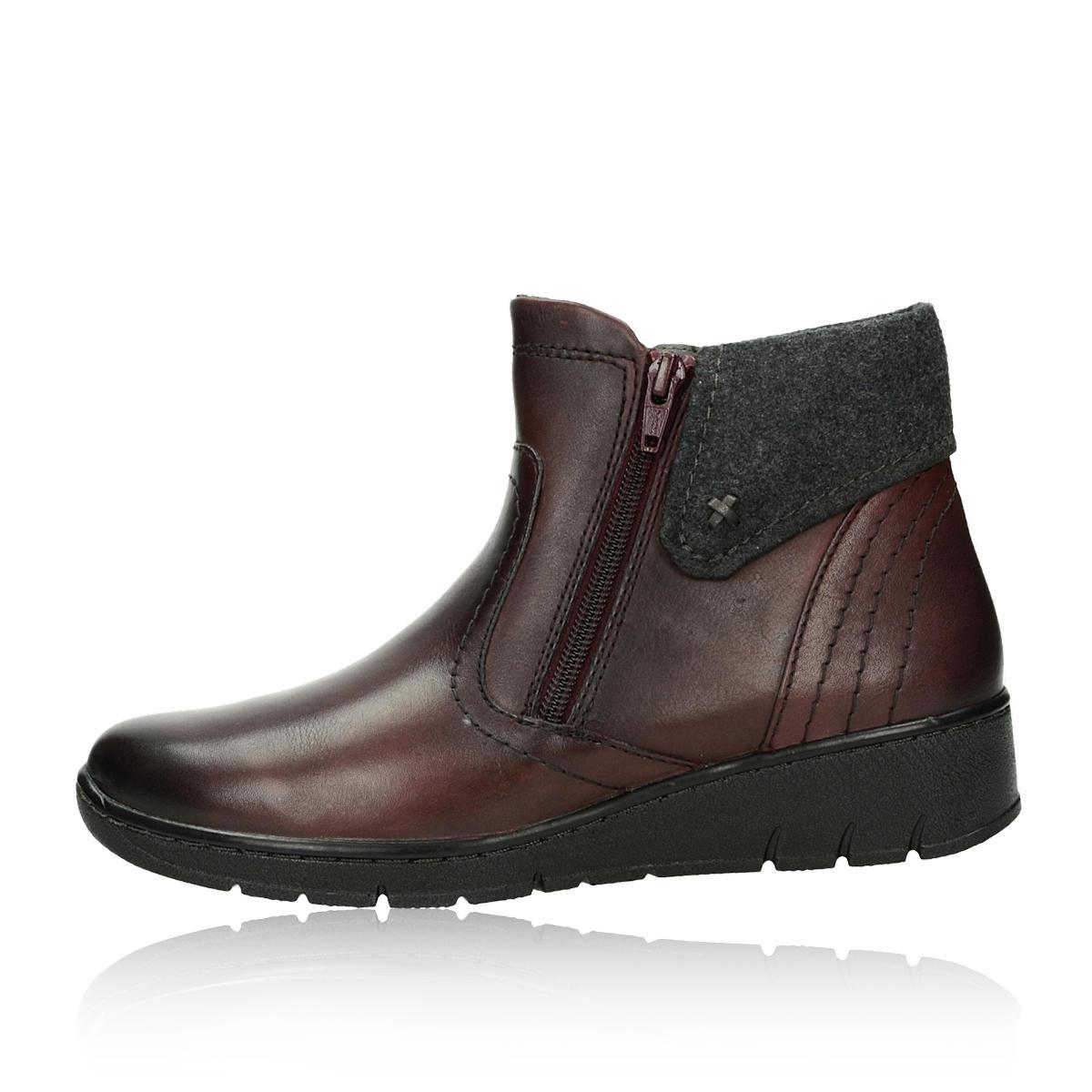 e3f007a5408 ... Jana dámské pohodlné kotníkové boty - bordó ...