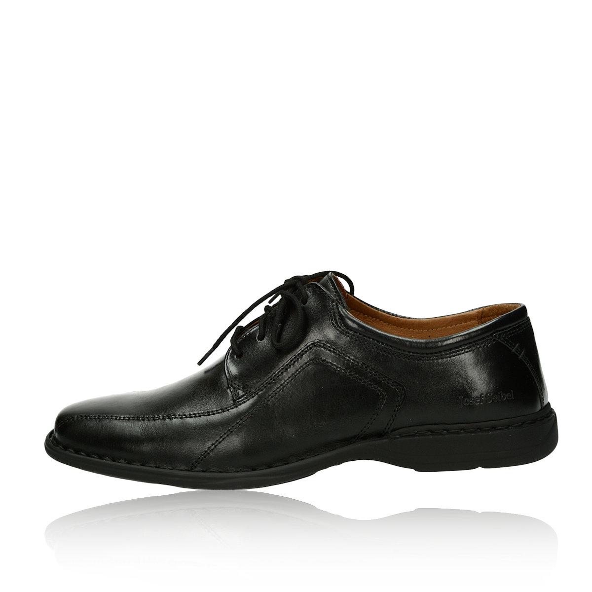 Josef Seibel pánské kožené boty - černé