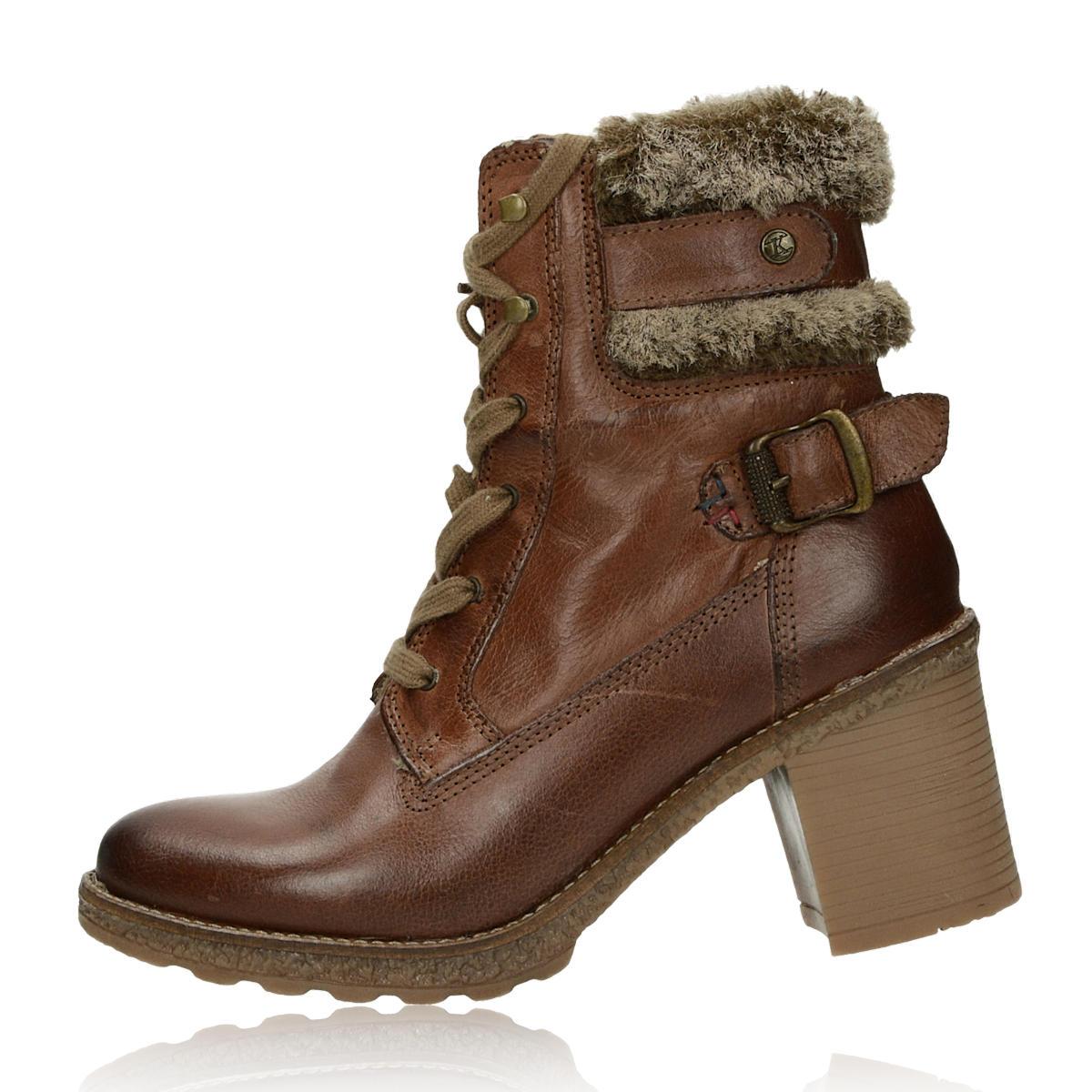 Kotníková obuv. Klondike dámské kožené kotníkové boty - hnědé Klondike  dámské kožené kotníkové boty - hnědé ... 797d3871ae