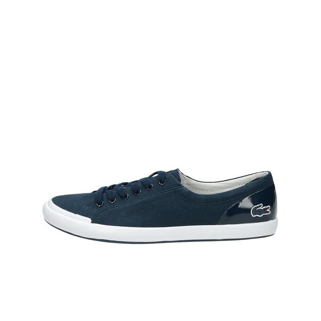 cb697b8400 ... Lacoste dámské stylové textilní tenisky - modré ...