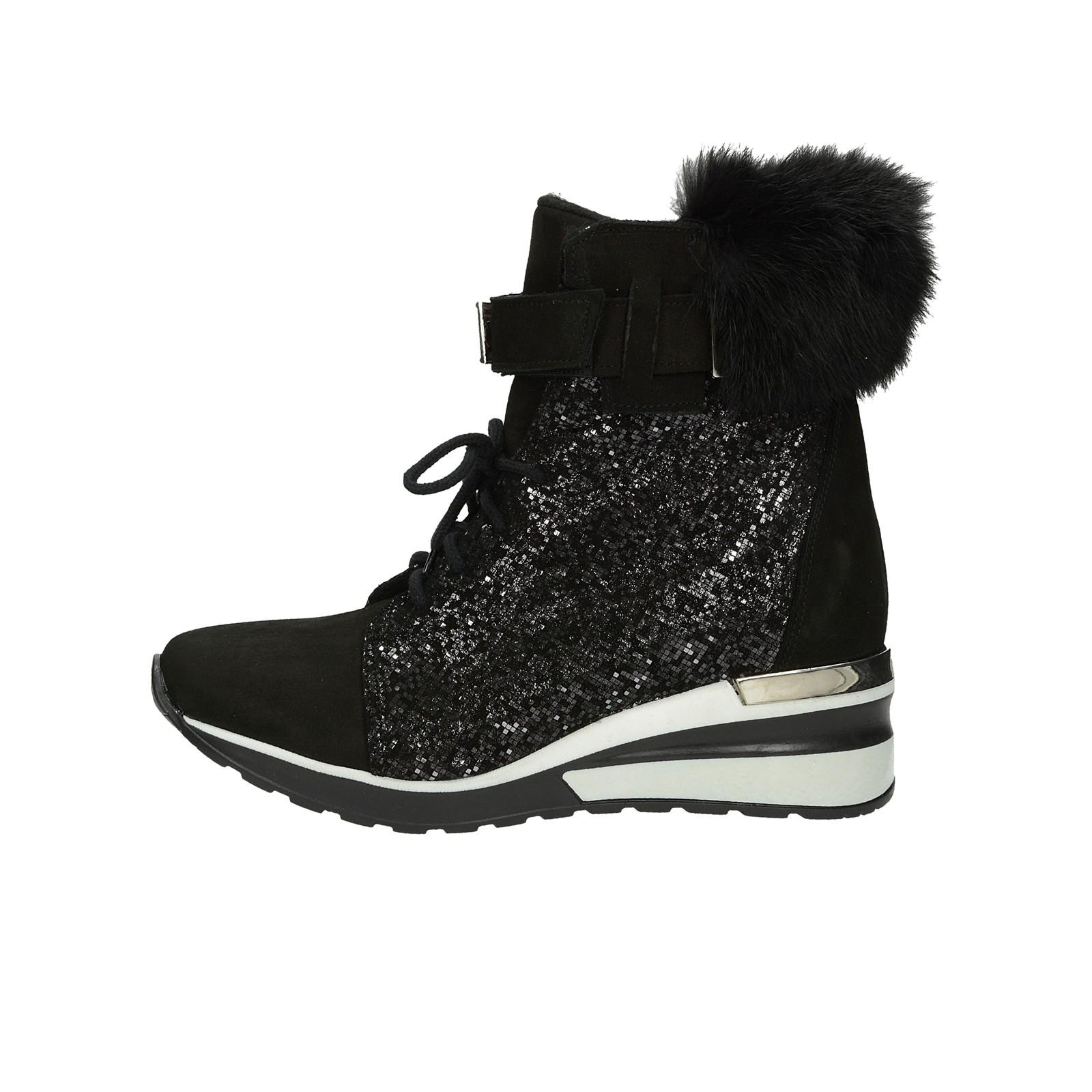 ... Olivia shoes dámské nubukové kotníkové boty na suchý zip - černé ... f5f63668cc