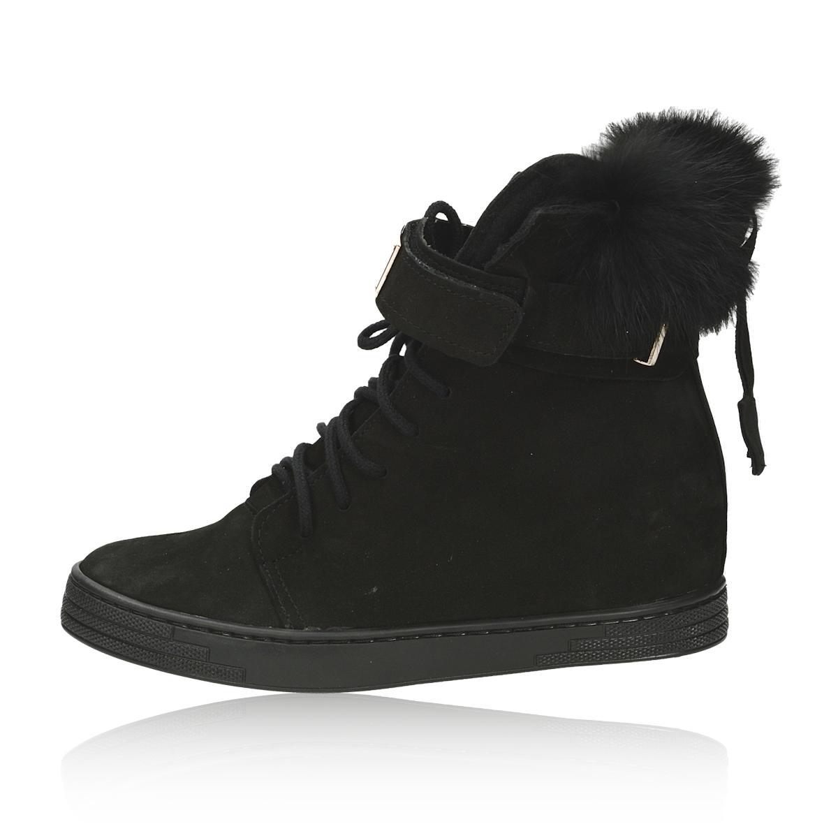 ... Olivia shoes dámské stylové kotníkové boty na suchý zip - černé ... caaca106bd