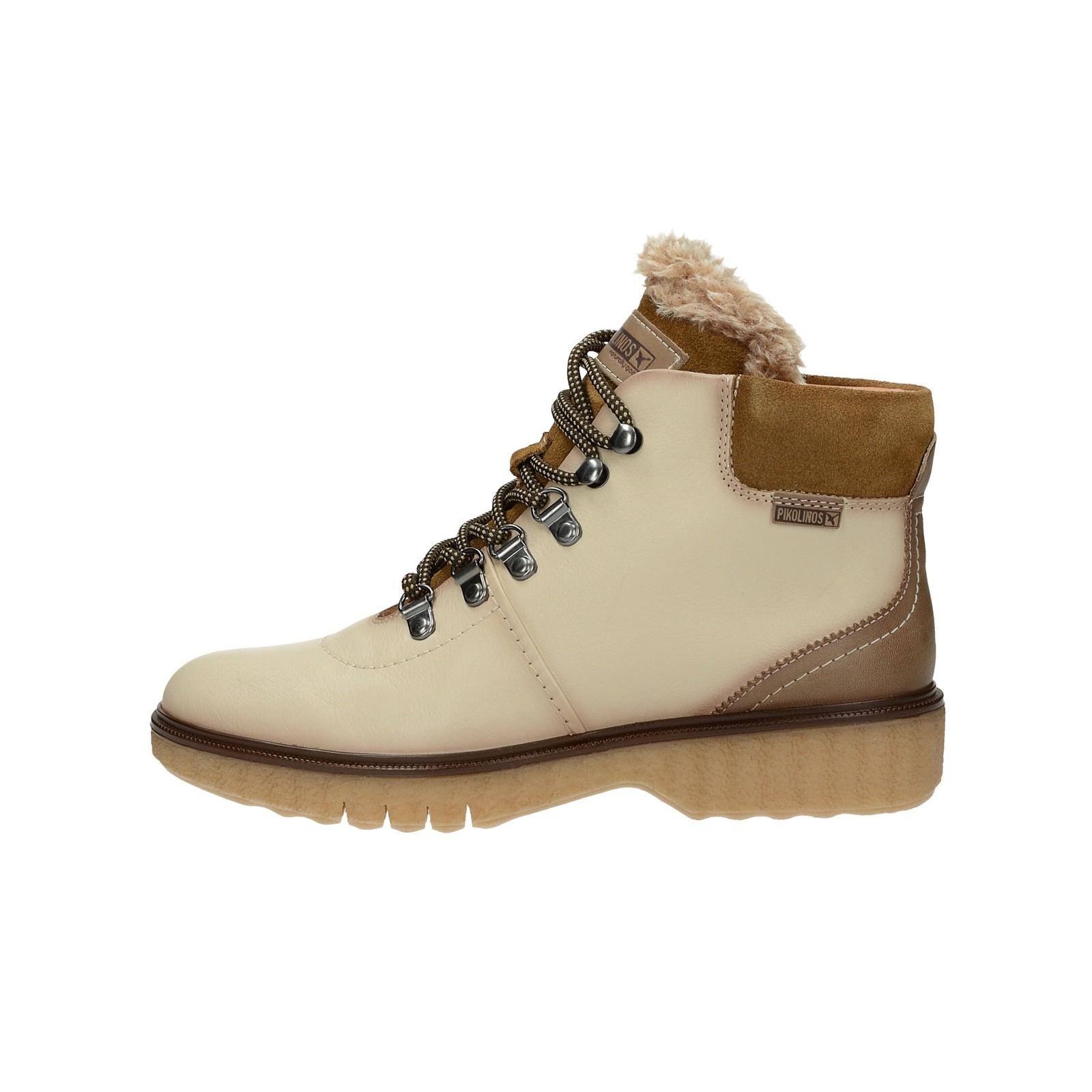 3b8040e945f ... Pikolinos dámské kožené kotníkové boty - béžové ...