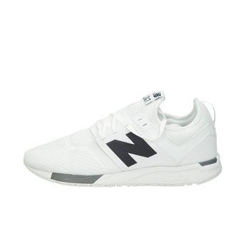 New Balance pánské stylové textilní tenisky - bílé