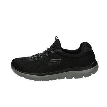 Skechers pánské stylové textilní tenisky - černé