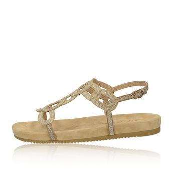 Alma en Pena dámské pohodlné sandály s řemínkem - béžové