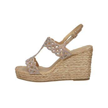Alma en Pena dámské stylové sandály s ozdobnými kamínky - béžové