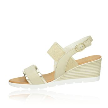Arianna dámské stylové sandály na klinové podrážce - béžové