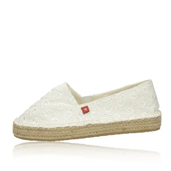 Big Star dámské pohodlné espadrilky - bílé