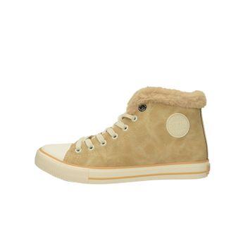 Big Star dámské stylové kotníkové boty - hnědé