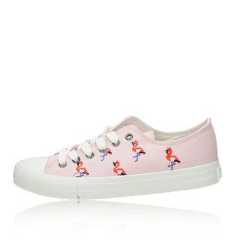 Big Star dámské stylové textilní tenisky - růžové