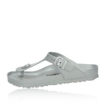 Birkenstock dámské pohodlné plážovky - stříbrné
