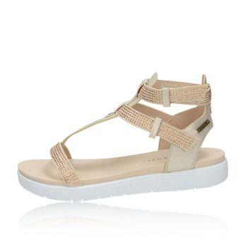 Bugatti dámské elegantní sandály s ozdobnými kamínky - béžové