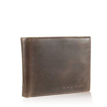 Bugatti pánská kožená peněženka - hnědá