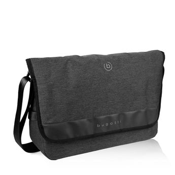 Bugatti pánská textilní notebooková taška - černá