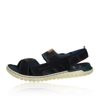 Bugatti pánské kožené sandály - tmavomodré