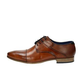 Bugatti pánské kožené společenské boty - koňakové