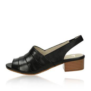 aee997595 Canal Grande dámské kožené sandály - černé