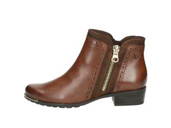 Caprice dámské kombinované kotníkové boty - koňakové
