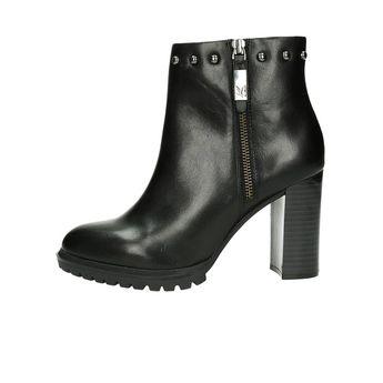 Caprice dámské kožené kotníkové boty - černé