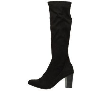 Caprice dámské textilní vysoké kozačky - černé