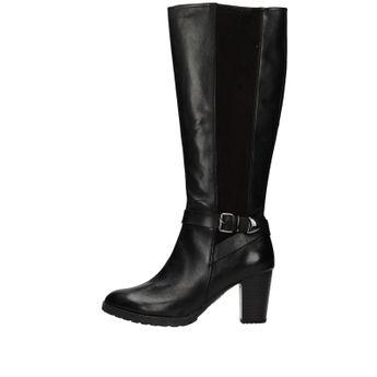 Caprice dámské vysoké stylové kozačky - černé