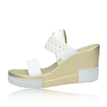 Cerutti dámské elegantní sandály s ozdobnými kamínky - bílé