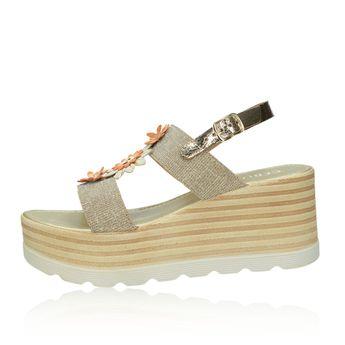 Cerutti dámské elegantní sandály s řemínkem - zlaté