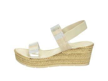 Cerutti dámské sandály na klínovém podpatku - béžové
