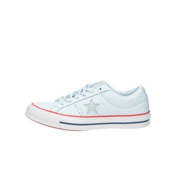 Converse dámské kožené tenisky - modré