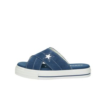 Converse dámské semišové nazouváky - modré
