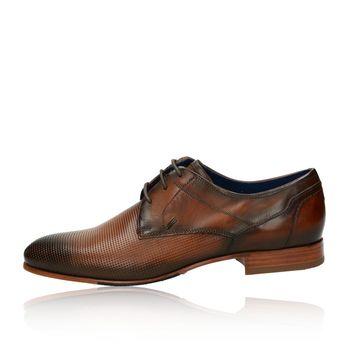 Daniel Hechter pánské společenské kožené boty - koňakové