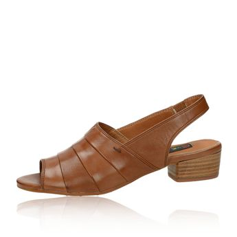 Everybody dámské kožené sandály - hnědé