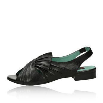 Everybody dámské pohodlné kožené sandály - černé