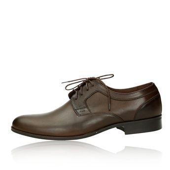 Faber pánské kožené společenské boty - tmavohnědé