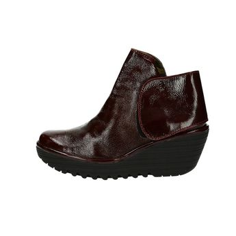 Fly London dámské kožené kotníkové boty - bordó b85271e5c8
