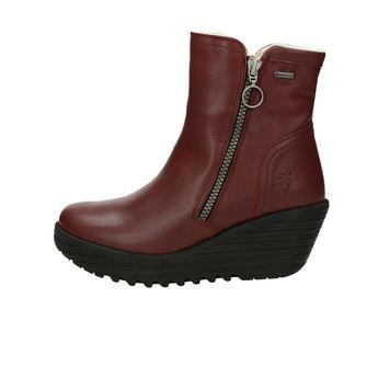 Fly London dámské stylové kotníkové boty - bordó 7dd935fa24