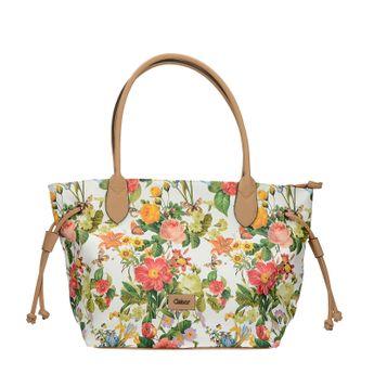 Gabor dámská stylová kabelka s květinovým vzorem - bílá