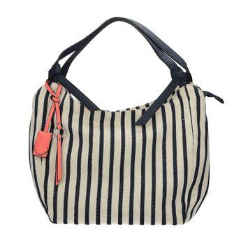 Gabor dámská textilní pásková kabelka - modrobílá