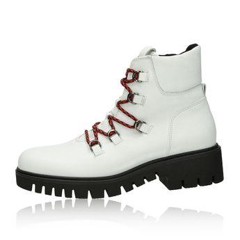 Gabor dámské kožené kotníkové boty - bílé