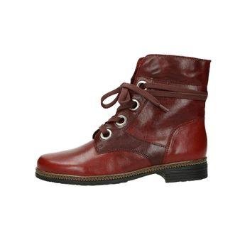 Gabor dámské kožené kotníkové boty - bordó