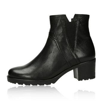 Gabor dámské kožené kotníkové boty - černé