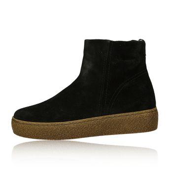 Gabor dámské semišové stylové kotníkové boty - černé