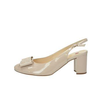 Högl dámské lakované sandály s řemínkem - béžové