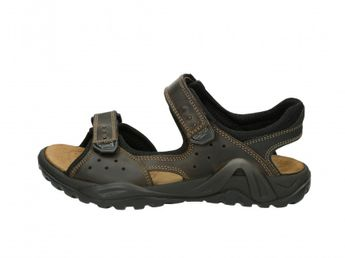 Imac pánské kožené sandály - hnědé
