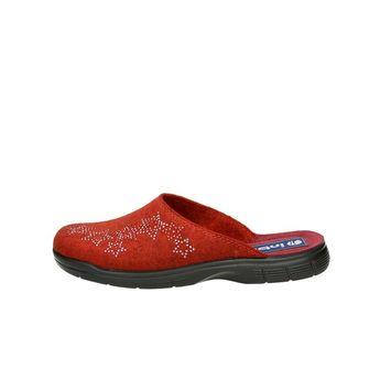 Inblu dámská domácí obuv s ozdobnými kamínky - červená c359a8d460