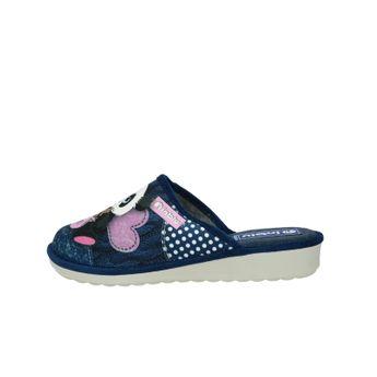 Inblu dámská textilní domácí obuv - modrá