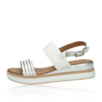 Inuovo dámské stylové sandály - stříbrnobílé