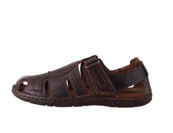 Josef Seibel pánské pohodlné sandály - hnědé